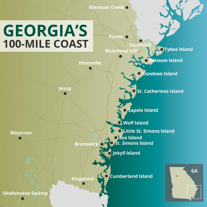 Georgia coast map