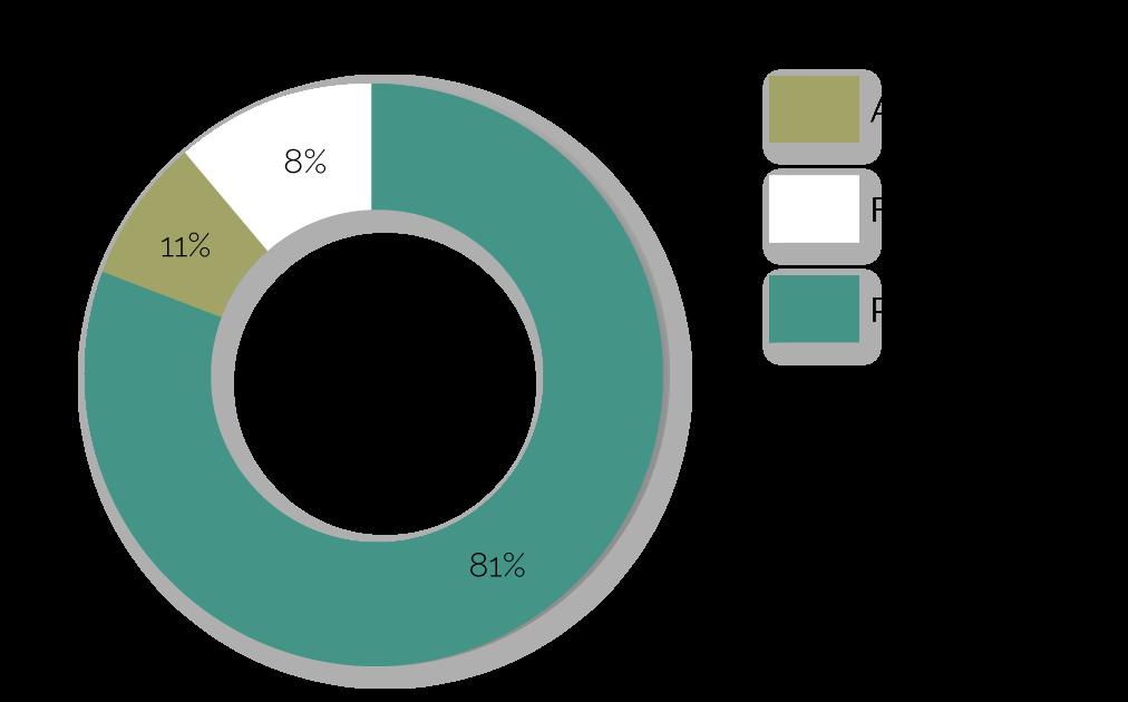2021 Accountability graph. 11% Admin, 8% Fundraising, 11% Programs